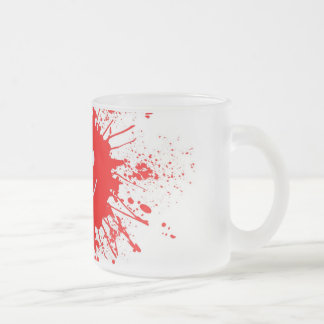 Smiley Face Paint Splash Frosted Glass Coffee Mug