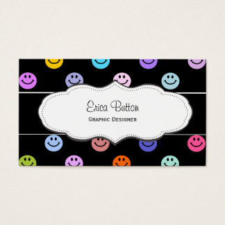 Smiley Face Pattern Business Cards