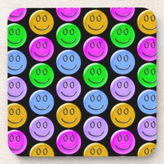 Smiley Face Pattern Design Drink Coaster