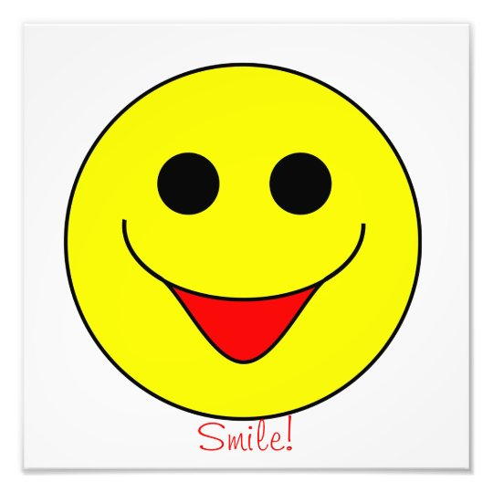 Smiley Face Picture Photo Print