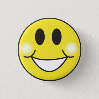Smiley-Face Pinback Button