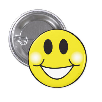 Smiley-Face Pinback Button