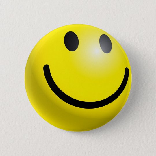 SMILEY FACE PINBACK BUTTON