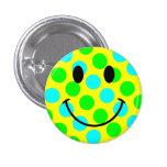 Smiley Face Polka Dots Pins