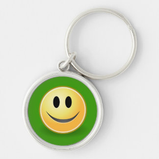 Smiley Face Premium Keychain (Green)