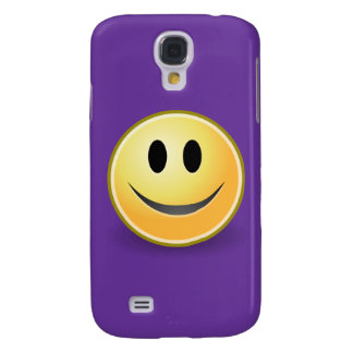 Smiley Face (Purple) Samsung Galaxy S4 Cover