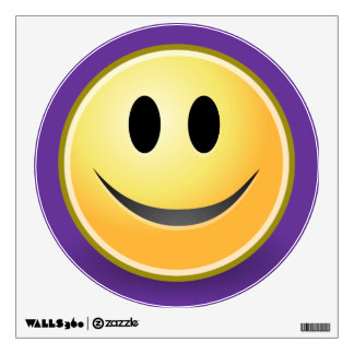 Smiley Face Purple Wall Decal