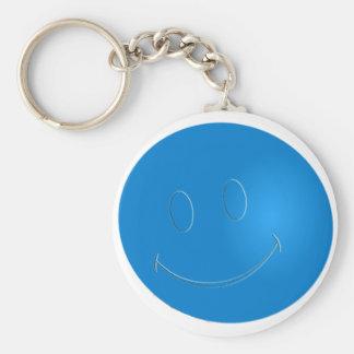 SMILEY FACE RACQUET BALL KEYCHAIN