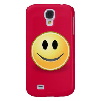 Smiley Face (Red) Galaxy S4 Cover