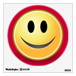 Smiley Face Red Wall Decal