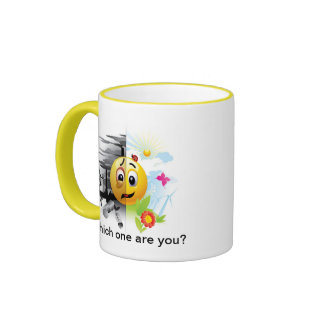 Smiley Face Sending A Message About Pollution Ringer Mug
