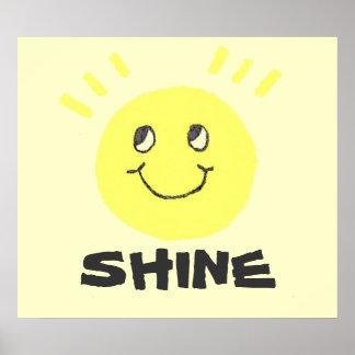 Smiley Face Shine Print