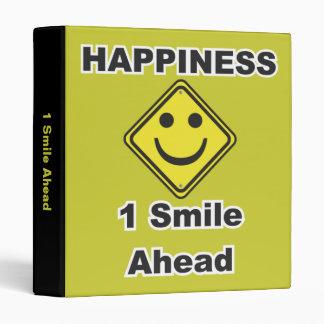 Smiley Face Sign 3 Ring Binder