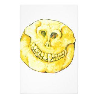 Smiley Face Skull Stationery