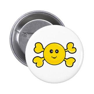 smiley face Skull yellow Crossbones Pins