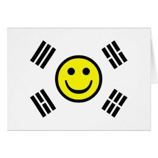 Smiley Face South Korean Flag Card