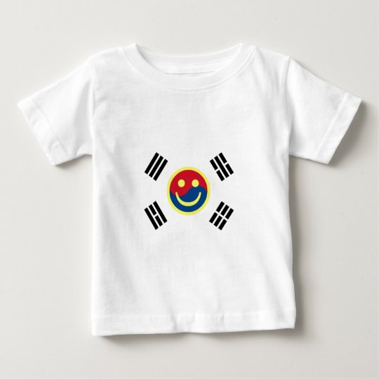 Smiley Face South Korean Flag (Version 2) Baby T-Shirt