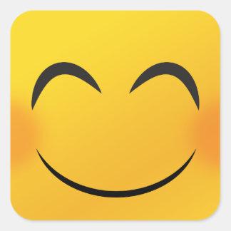 Smiley face square sticker