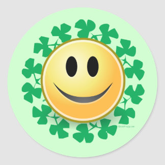 Smiley Face St. Patrick's Day Stickers