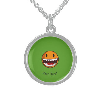 Smiley Face Sterling Silver Necklace