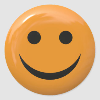 Smiley Face Round Stickers