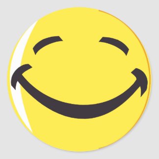 Smiley face sticker!