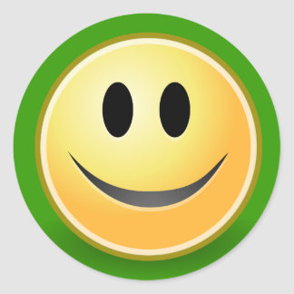 Smiley Face Sticker (Green)