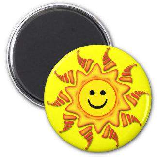 SMILEY FACE SUN MAGNET