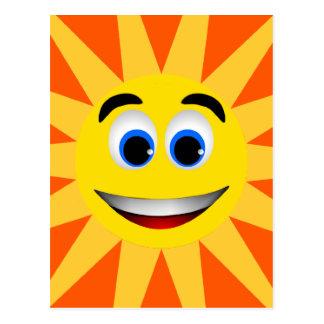 SMILEY FACE SUN POSTCARD