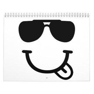 Smiley face sunglasses calendar