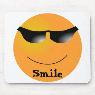 Smiley Face Sunglasses Cartoon Mousepad