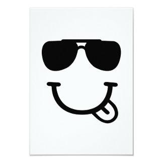Smiley face sunglasses 3.5x5 paper invitation card