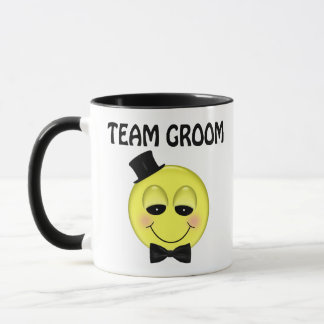 Smiley Face Team Groom Mugs