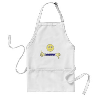 smiley face The main question Custom Adult Apron