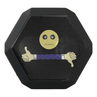 smiley face The main question Custom Black Bluetooth Speaker