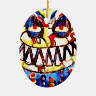 smiley face & the T6 Ceramic Ornament
