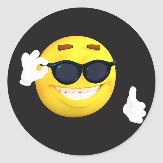 Smiley face thumbs up emoji stickers