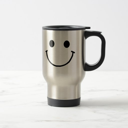 Smiley Face Travel Mug 15 oz
