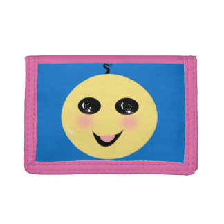 smiley face tri-fold wallets