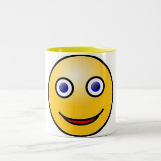 Smiley Face Two-Tone Coffee Mug