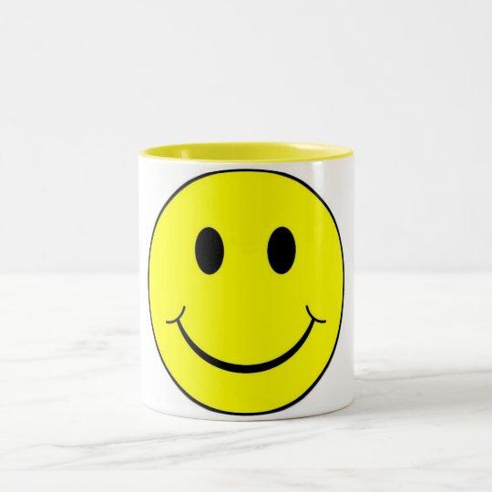 smiley face Two-Tone coffee mug