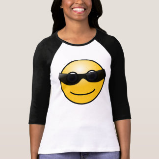 Smiley face wearing sunglasses, T-shirt for Ladies