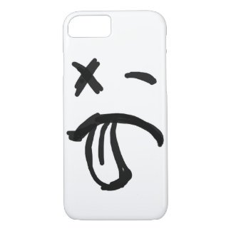 Smiley Face with Black Eye and Tongue Sticking Out iPhone 7 Case