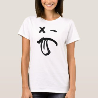 Smiley Face with Black Eye and Tongue Sticking Out T-Shirt