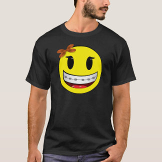 Smiley face with braces - girl T-Shirt