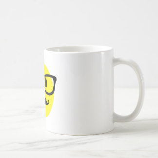 Smiley Face with Glasses Coffee Mug