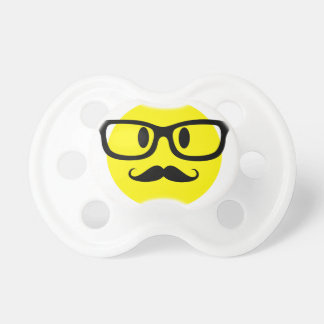 Smiley Face with Glasses Pacifier