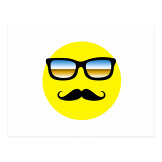 Smiley Face with Glasses Postcard
