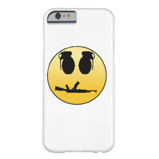 Smiley face with grenades and AK Barely There iPhone 6 Case