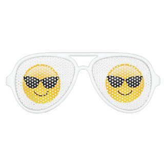 Smiley face with sunglasses retro party shades